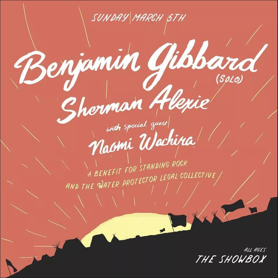 ben gibbard is throwing a standing rock benefit concert at the showbox in seattle